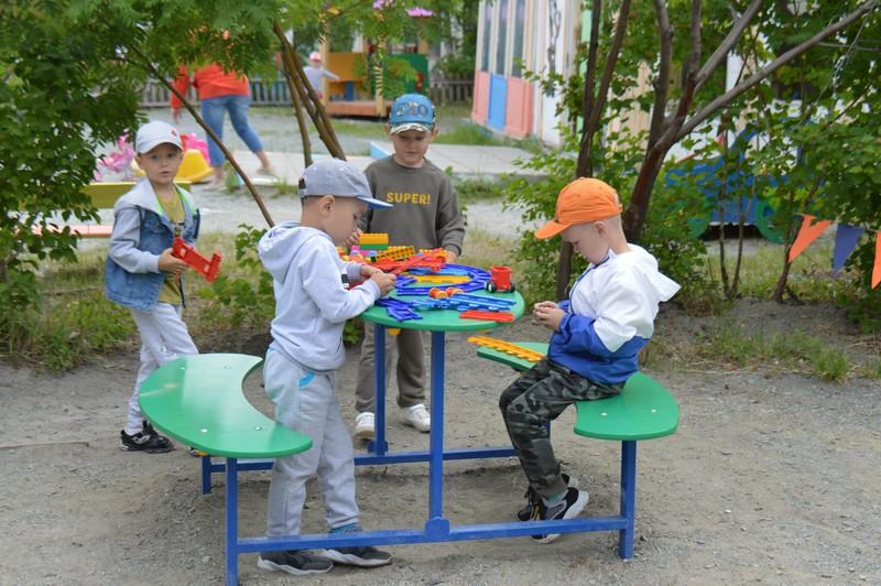 В детском саду «Семицветик» появилось более сорока новых игровых форм