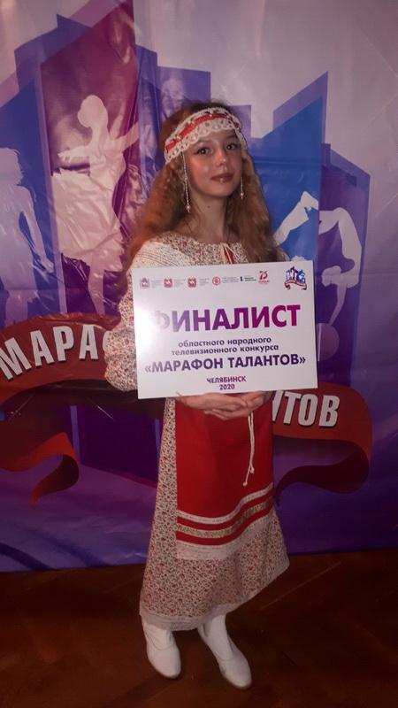 Озерчанка стала финалисткой областного народного конкурса «Марафон талантов»