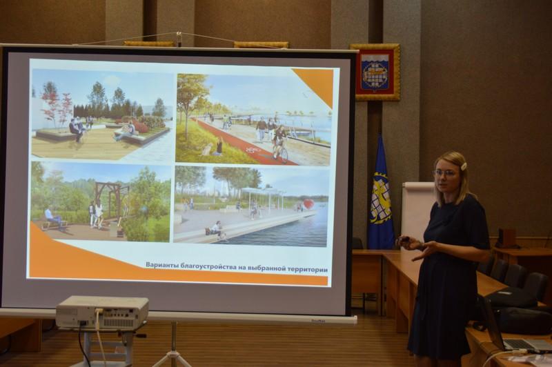 Продолжается обсуждение благоустройства территории вокруг пруда на проспекте К. Маркса